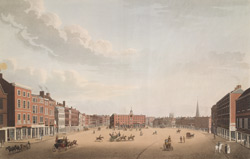 A perspective view of Nottingham market place
